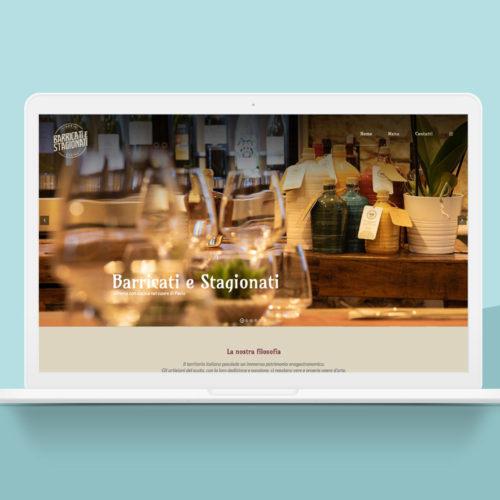 Barricati e Stagionati sito web ristorante